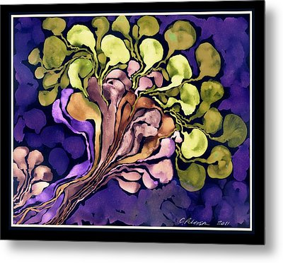 Blossom Of Spring    Purple Metal Print by Cathy Peterson