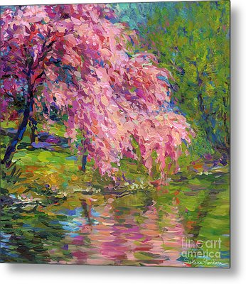 Blossoming Trees Landscape  Metal Print
