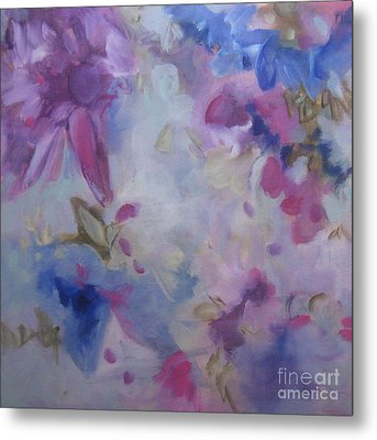 Blossoming V Metal Print