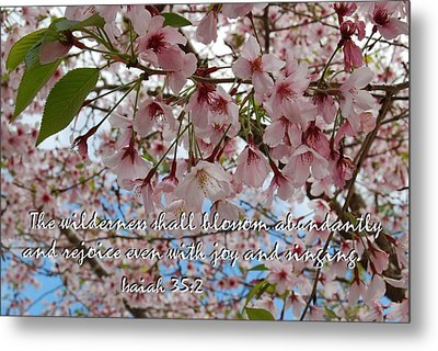 Blossoms Rejoice Metal Print by Jocelyn Friis