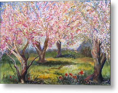 Blossomtime Metal Print by Jacqueline Pearson