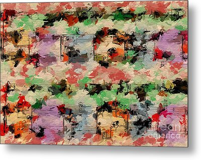 Metal Print featuring the digital art Blotched Up Divertimento 1 by Lon Chaffin