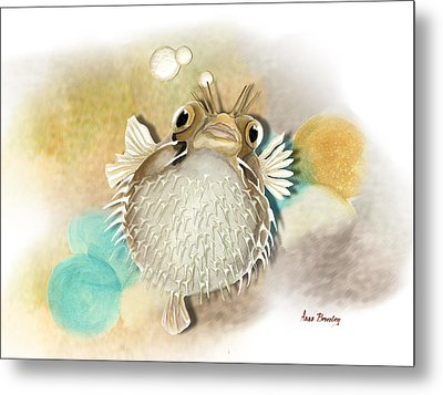 Blowfish Metal Print by Anne Beverley-Stamps