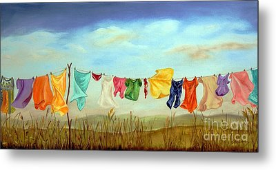 Blowing In The Breeze Metal Print