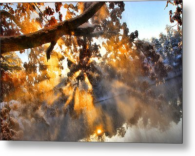 Blowing Snow Metal Print by Brent Craft