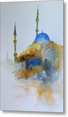 Blu Mosque Metal Print by Gianni Raineri