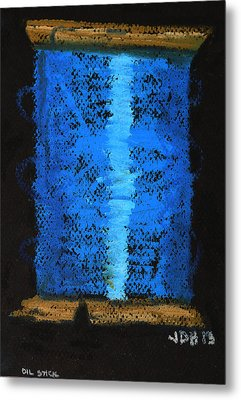 Metal Print featuring the drawing Blue 2 by Joseph Hawkins