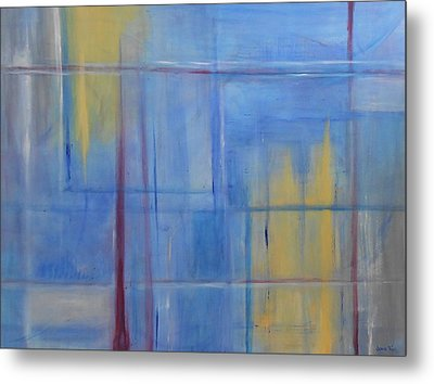 Blue Abstract Metal Print by Jamie Frier