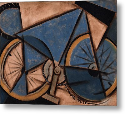 Tommervik Blue Abstract Ten Speed Art Print Metal Print