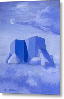 Blue Adobe Metal Print by Jerry McElroy