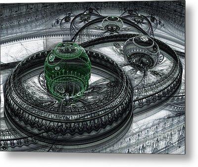 Dark Alien Landscape Metal Print by Martin Capek