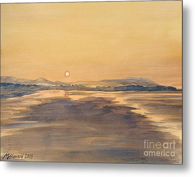 Blue Anchor Sunset Metal Print by Martin Howard