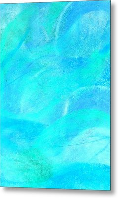 Blue And Aqua Abstract Metal Print