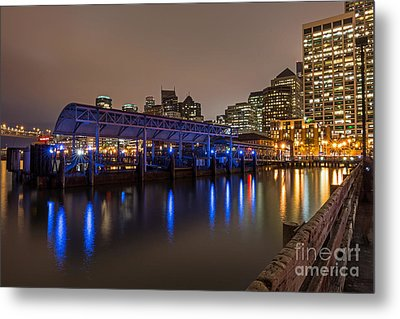 Blue And Gold Night Metal Print