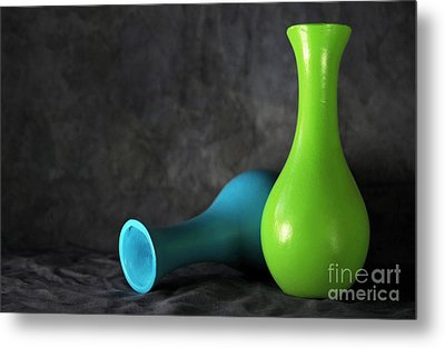 Blue And Green Metal Print by Dan Holm