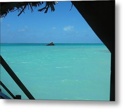 Blue And Green Metal Print by Photographic Arts And Design Studio