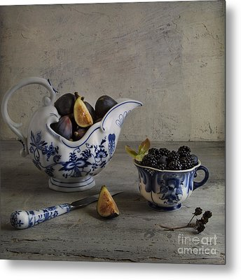 Blue And White China Metal Print by Elena Nosyreva