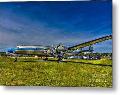Blue And Yellow Connie Metal Print by Marvin Spates