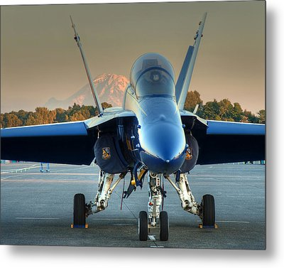 Metal Print featuring the photograph Blue Angel At Sunset by Jeff Cook