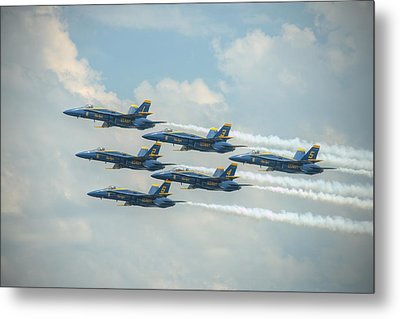 Blue Angels Delta Pass Metal Print
