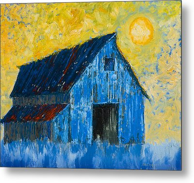 Blue Barn Number One Metal Print by Jerry McElroy