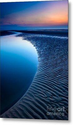 Blue Beach  Metal Print by Adrian Evans