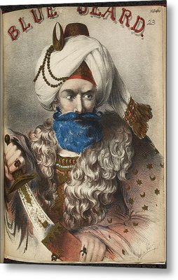 Blue Beard Metal Print
