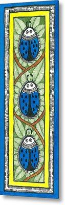 Blue Lady Bug Metal Print