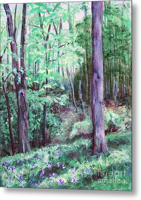 Blue Bells In Bloom Metal Print by Janet Felts