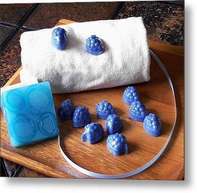 Blue Berries Mini Soaps Metal Print