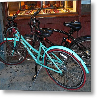 Metal Print featuring the photograph Blue Bianchi Bike by Joan Reese