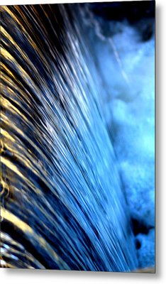 Curtain Metal Print by Laurette Escobar