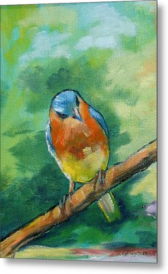 Blue Bird 1 Metal Print