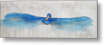 Blue Bird Of Happiness Metal Print by Carrie Jackson