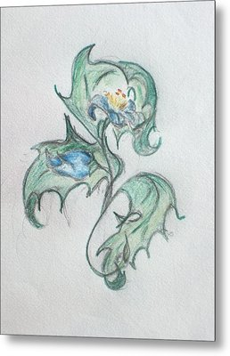 Blue Blossom 2 Metal Print
