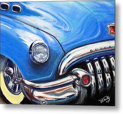 Blue Blue Buick Metal Print