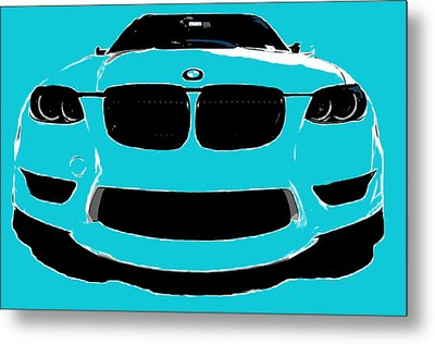 Blue Bmw Metal Print