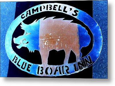 Metal Print featuring the photograph Blue Boar Inn II by Larry Campbell