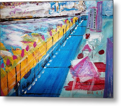 Blue Boardwalk Metal Print