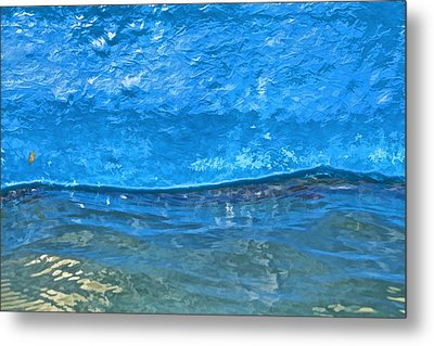 Blue Boat Abstract Metal Print by David Letts