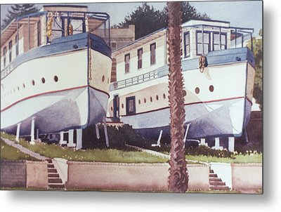 Blue Boat Apartments Encinitas Metal Print by Mary Helmreich