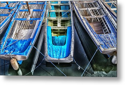 Blue Boats Metal Print by Stelios Kleanthous