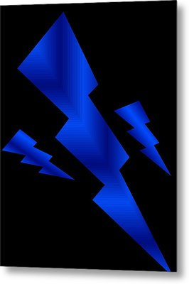 Blue Bolts Metal Print by Gayle Price Thomas