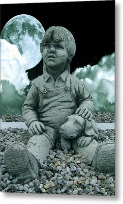 Metal Print featuring the photograph Blue Boy By The The Blue Moon by Allen Beilschmidt