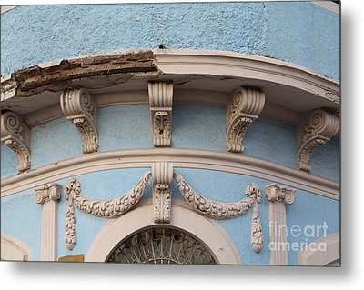 Blue Building Old Mazatlan Metal Print by Linda Queally