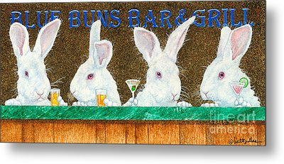 Blue Buns Bar And Grill... Metal Print by Will Bullas