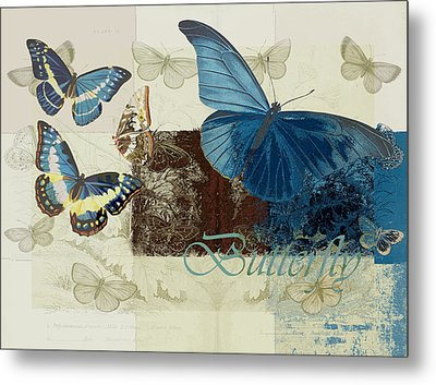Blue Butterfly - J152164152-01 Metal Print by Variance Collections