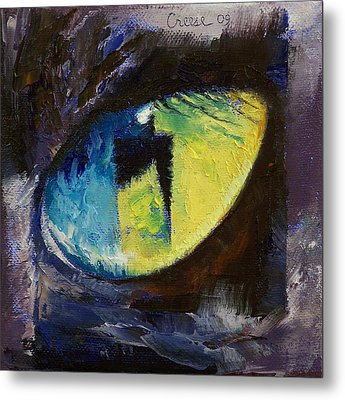 Blue Cat Eye Metal Print by Michael Creese