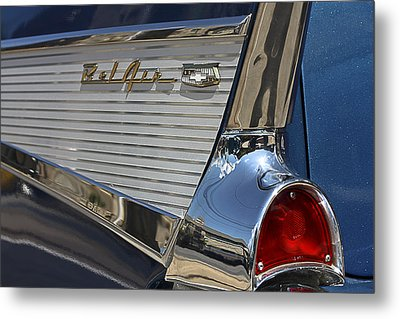 Metal Print featuring the photograph Blue Chevy Bel Air by Patrice Zinck