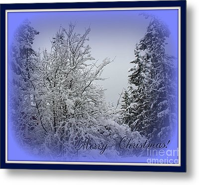 Blue Christmas Metal Print by Leone Lund
